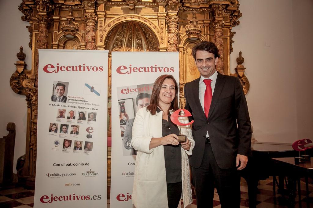 Amalia gallego y el presiden te diputación de A Coruña