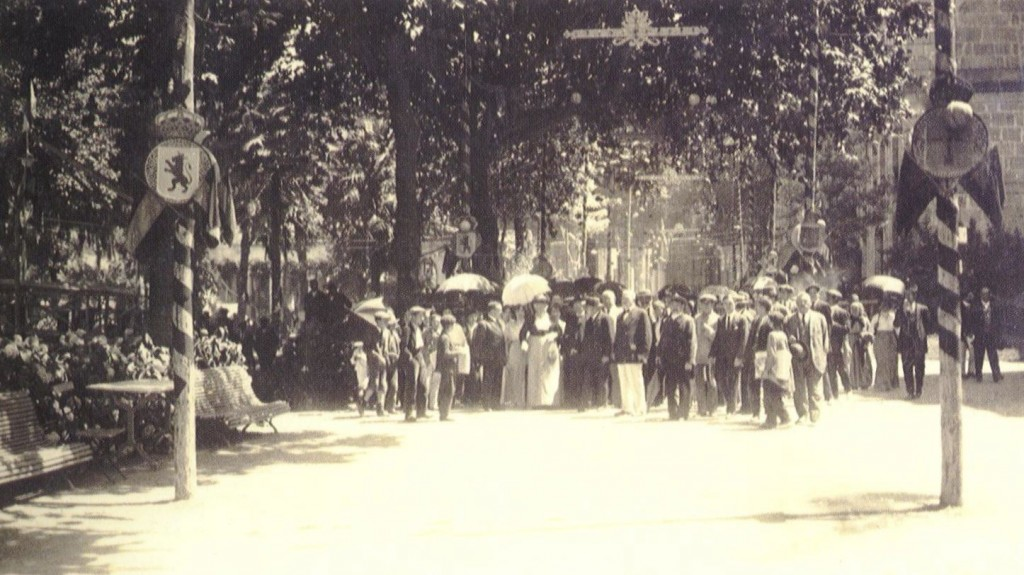 Gaias_Balneario de Mondariz. Visita de la infanta Isabel de Borbón en 1914